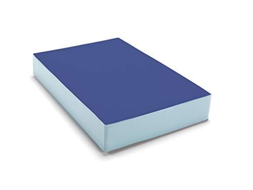 traturio Hüpfmatratze in tollen Farben für alle kleinen Hüpfer 107x70x17 cm blau/eisblau