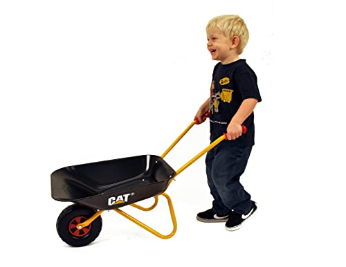 Rolly Toys rollyMetallschubkarre CAT Kinderschubkarre (für Kinder ab 2,5 Jahre, Metallschüssel, belastbar bis 25 kg, Kunststoffgriffe) 271818