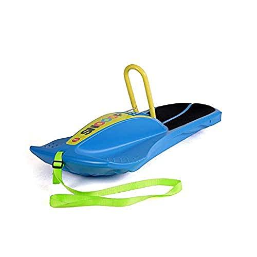 Ferbedo Kinderschlitten Snooop Carver blau (Schlitten mit Anti-Rutsch-Sitzfläche, Lenkung durch Gewichtsverlagerung, verstellbarer Haltegriff aus Metall) F070052