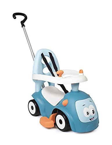 Smoby 720304 - Maestro Balade Blau - Komfortables Rutscherfahrzeug mit 3 Verwendungsfunktionen, Schiebewagen, Lauflernhilfe und Rutscherfahrzeug, für Kinder ab 6 Monaten