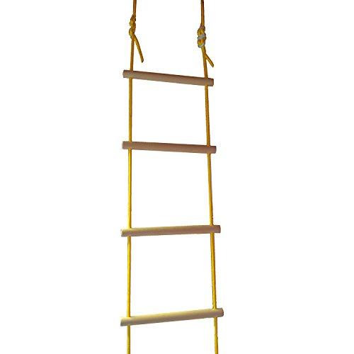 NiroSport Strickleiter für Kinder und Erwachsene bis 80 kg, für Outdoor und Indoor, TÜV geprüft, Made in Germany (2,0 m - 8 Sprossen)