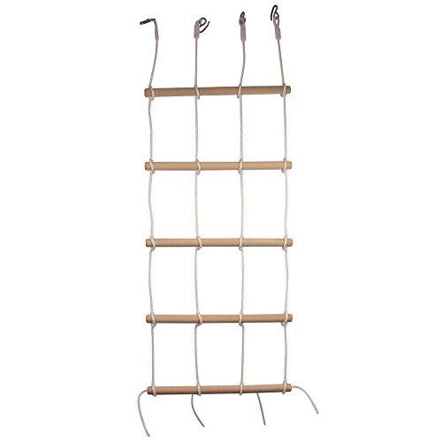 small foot 6122 Kletterwand mit 4 stabilen Seilen und 5 Holzstangen