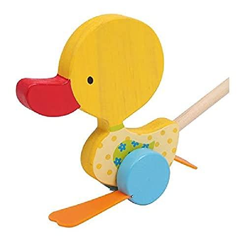 """small foot 3357 Schiebetier Watschel-Ente """"Tine"""",aus Holz,Lauflernhilfe für die ersten Gehversuche,mit Watschel-Geräusch"""