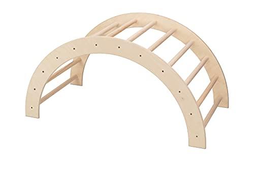 VU Holzspielzeug Kletterbogen / Bogenleiter (Pikler Art), groß, fertig zusammengebaut, Made in Germany
