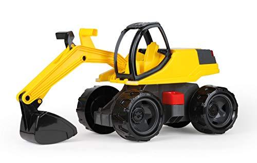Lena 02141 - Starke Riesen Bagger, Giga Trucks Sandbagger ca. 80 cm groß, stabiler 360 Grad Schaufelbagger, XXL Baufahrzeug mit funktionierender Schaufel, hohe Tragkraft, für Kinder ab 3 Jahre