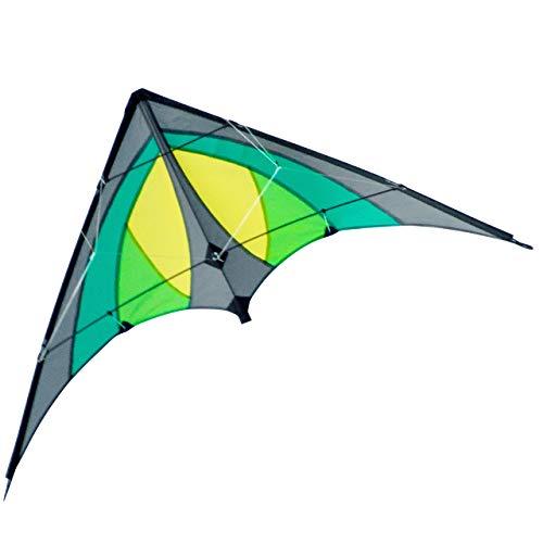CIM Lenkdrachen - Shuriken MUSTHAVE Green Jungle - Drachen für Kinder ab 8 Jahren - 120x60cm - inklusiv Steuerleinen auf Rollen - Einsteiger Lenkdrachen*