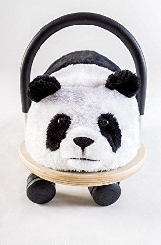Wheely Bug 4260223371189 51100P Panda, NEUHEIT Kleiner Holzpanda mit strapazierfähigem Bezug auf Rollen mit Griff, Ultimatives Cooles Rutschauto, Spaß Car-Auto für jedes Kind