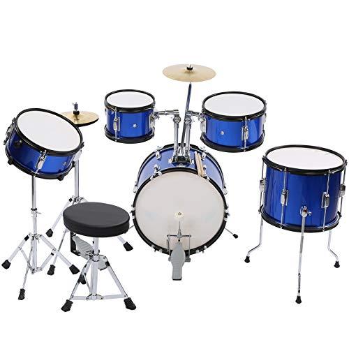 Wakects Jazz-Schlagzeug-Set, Lernspielzeug und pädagogische Musikinstrumente, geeignet für Kinder von 3 bis 12 Jahren, um die Kreativität von Jungen und Mädchen zu stimulieren.