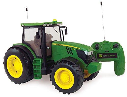 Britains 42838 Radio Controlled JD6190R Traktor, das originalgetreue Replikat im Maßstab 1:16 mit Fernsteuerung, Lichter und Motorengeräusche lässt Kinder- und Sammlerherzen höher schlagen. Für...