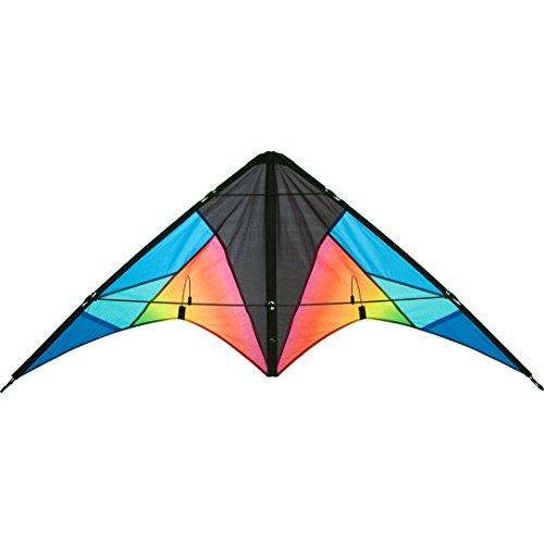 HQ 11234615 - Quickstep II Chroma Lenkdrachen Zweileiner, ab 10 Jahren, 60x135cm, inkl. 20kp Polyesterschnur 2x20m auf Winder, 2-5 Beaufort