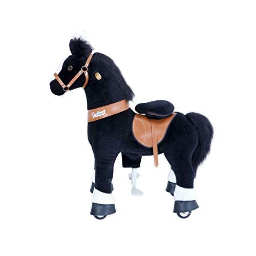 PonyCycle Black with White hoof Horse