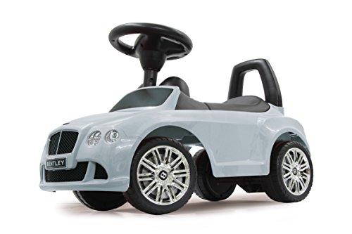 JAMARA 460225 - Rutscher Bentley Continental GT Speed weiß – Kippschutz, Kofferraum, Schub- und Haltegriff, echte Scheinwerferattrappen, Hupe und Sounds, offiziell lizenziert, wertige Verarbeitung