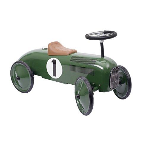 Goki 14167 Rutscherfahrzeug, grün/schwarz