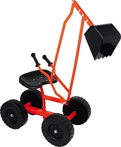 small foot 2020139 4628 Bagger mit Schaufel und Rädern für Kinder, Sandspielzeug / Strandspielzeug, 360° drehbar, ab 3 Jahren