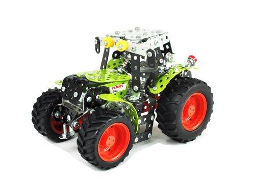 Tronico 10010 - Metallbaukasten Traktor Claas Arion 430, Maßstab 1:32, Mini Serie, grün, 354 Teile