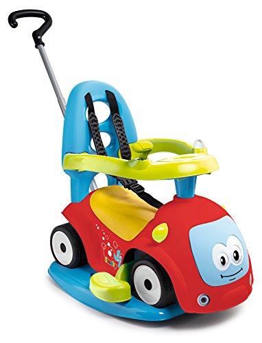 Smoby 7600720302 - Maestro Balade Rot - Komfortables Rutscherfahrzeug mit 4 Verwendungsfunktionen, Schaukelwippe, Schiebewagen, Lauflernhilfe und Rutscherfahrzeug, für Kinder ab 6 Monaten