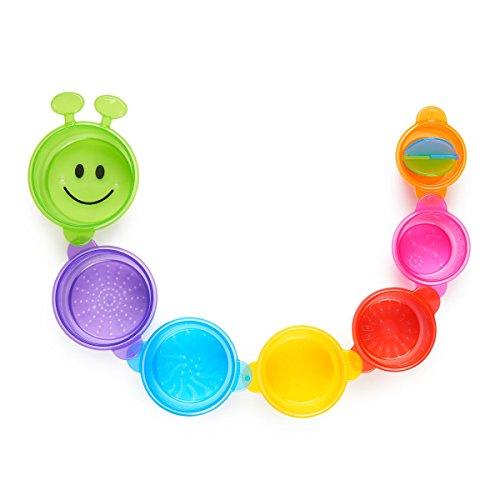 Munchkin - Becherraupe Badespielzeug, 7-teilig