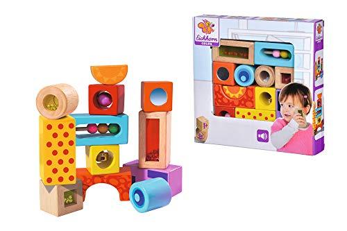 Eichhorn – Klangbausteine – 12 bunte Holzbausteine die Geräusche machen, für Kinder und Babys ab 12 Monaten, Holzspielzeug