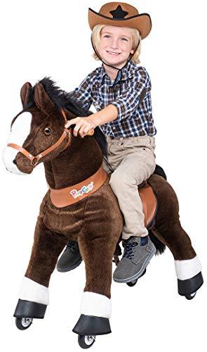 Miweba PonyCycle Mister Ed - Modell 2021 - U Serie - Schaukelpferd - Kuscheltier auf Rollen - Inline - Kinder - Pony - Pferd - Reiten - Plüschtier - MyPony (Small)