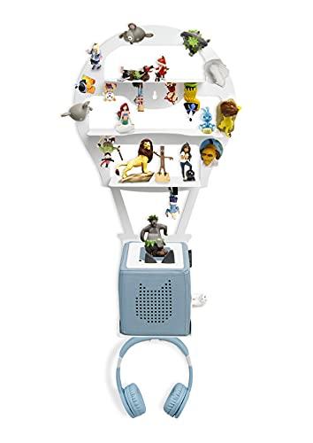 Wandregal für die Tonie Box® Magnetfähig - Heißluftballon, Luftballon passend für über 52 Tonies®, Ideales Tonie-Box® Zubehör für Jungs und Mädchen