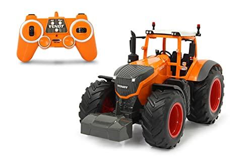 JAMARA 405045 - Fendt 1050 Vario Kommunal 1:16 2,4GHz - RC Traktor, Motorsound (abschaltbar), Rückfahrwarnsound, Hupe, Abschaltfunktion, 2 Radantrieb, Licht vorne, Blinker, Demo Funktion, orange