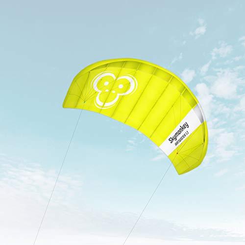 Skymonkey Airtwister 1.3 Lenkmatte mit Flugschlaufen 'Ready 2 Fly'- 130 cm [grün-gelb]