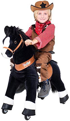 Miweba PonyCycle Black Beauty - Modell 2021 - U Serie - Schaukelpferd - Kuscheltier auf Rollen - Inline - Kinder - Pony - Pferd - Reiten - Plüschtier - MyPony (Small)