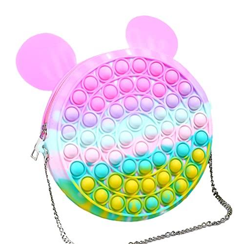 SyeRum Fingertip Fingertip Umhängetasche, Fidget Toys Sensory Fidget Tasche, Push Bubbles Pop It Handtasche, Stress- Und Angstlinderung, Kreative Damenkuriertasche, Damengeschenk