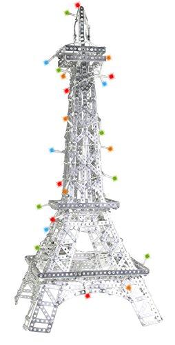 Tronico 10034 - Metallbaukasten Turm mit 50 LED Lichtern, Profi Serie, 1820 Teile, ca. 77 x 32 x 32 cm
