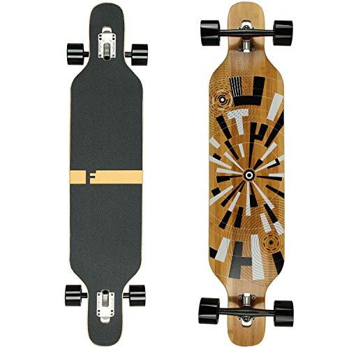 Flex3 bis 68kg - Camber Longboard (Flex3 bis 68kg, Muster - Bambus/Ahornholz)
