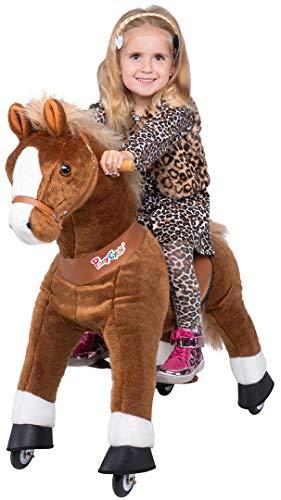 Miweba PonyCycle Amadeus - Modell 2021 - U Serie - Schaukelpferd - Kuscheltier auf Rollen - Inline - Kinder - Pony - Pferd - Reiten - Plüschtier - MyPony (Medium)