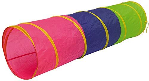 LittleTom Spieltunnel 180x46cm - Kriechtunnel Baby Krabbeltunnel Zelt Tunnel Bunt