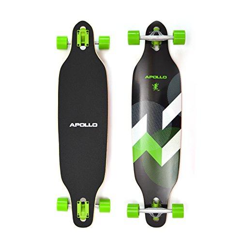 Apollo Longboard SUVA Flex III Special Edition Komplettboard mit High Speed ABEC Kugellagern inkl. Skate T-Tool, Drop Through Freeride Skaten Cruiser Boards