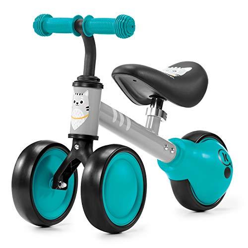 Kinderkraft Laufrad CUTIE, Lernlaufrad, Kinderlaufrad, Lauflernrad, Fahrrad ohne Pedale, Dreirad, Aus Metall, Modernes Design, Sichere Konstruktion, für Kinder ab 1 Jahr, Türkis