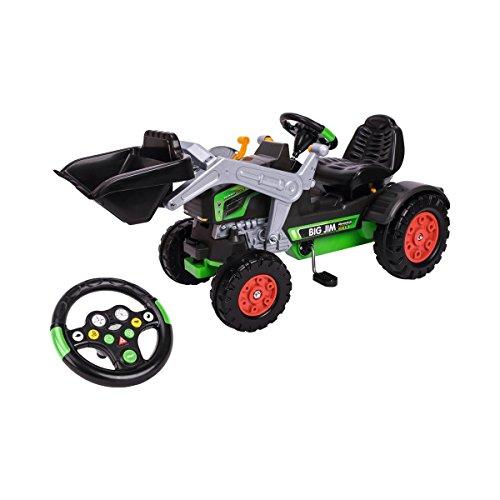 BIG - Jim Turbo - Trettraktor mit Soundlenkrad, inklusive BIG-Tractor-Sound-Wheel, Schaufel bis zu 3 kg belastbar, Traktor für Kinder ab 3 Jahren*