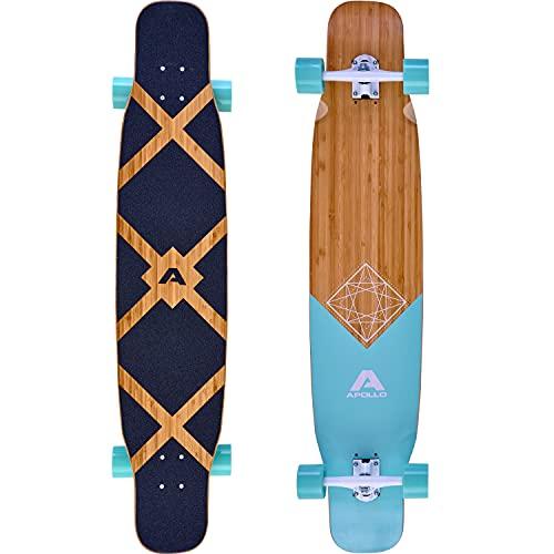 Apollo Dancer Longboard Bora, 46 x 9,5 Zoll, ABEC 9 Kugellager, stylische Longboards, perfekt zum Dancing für Profis und Anfänger, Komplettboard für Tricks und Moves Aller Art, Cruiser Longboard