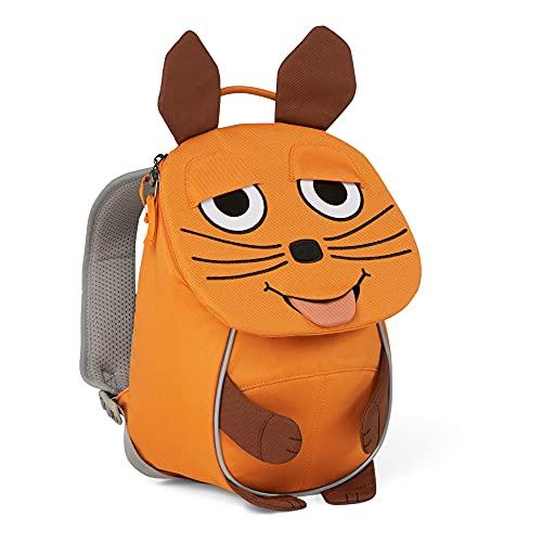 Affenzahn Kleiner Freund - Kindergartenrucksack für 1-3 Jährige Kinder im Kindergarten und Kinderrucksack für die Kita Die Maus - Orange