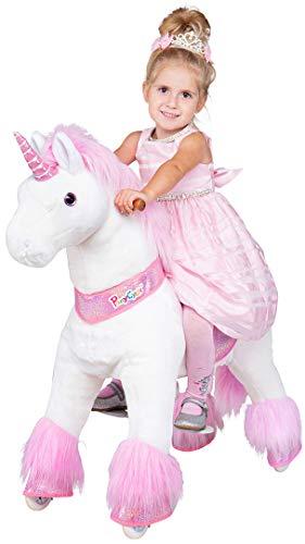 Miweba PonyCycle Sternschnuppe - Modell 2021 - U Serie - Schaukelpferd - Kuscheltier auf Rollen - Inline - Kinder - Pony - Pferd - Reiten - Plüschtier - MyPony (Small)