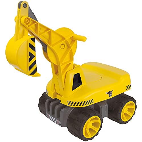 BIG - Power-Worker Maxi-Digger - Kinderfahrzeug, geeignet als Sandspielzeug und für das Kinderzimmer, Baggerfahrzeug zum Sitzen bis 50 kg, für Kinder ab 3 Jahren