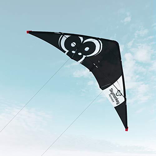 Skymonkey Fastrider Lenkdrachen, Anfänger 2 leiner Leichtwinddrache, 127cm*