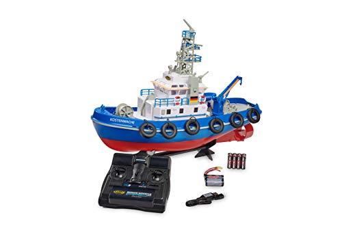 Carson 108032 Küstenwache TC-08 2.4G 100% RTR, Ferngesteuertes, RC Boot, mit Funktionen, inklusive Fernsteuerung, Sicherheitsschaltung, 500108032, Blau