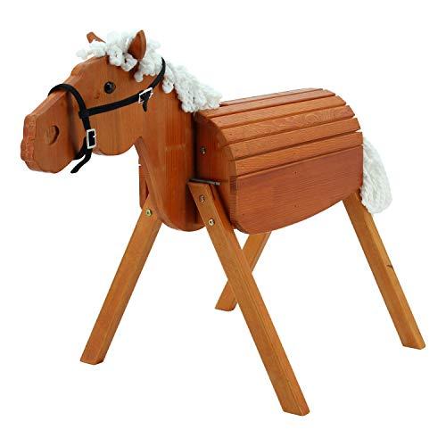 Sweety Toys 12930 Outdoor Gartenpferd Holzpferd Maya Größe M 90 cm MIT Zaumzeug