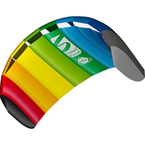 HQ 11768050 - Symphony Beach III 1.3 Rainbow, Zweileiner Lenkmatten, ab 8 Jahren, 55x130cm, inkl. 45 kp Polyesterschnüre 2x25m auf Winder mit Schlaufen, 2-6 Beaufort