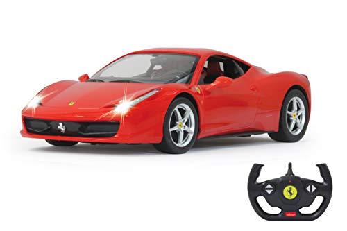 JAMARA 404305 - Ferrari 458 Italia 1:14 2,4GHz - offiziell lizenziert, bis 1 Std. Fahrzeit bei 11 Km/h, LED, Perfekt nachgebildete Details, detaillierter Innenraum,hochwertige Verarbeitung
