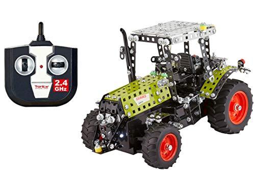 Metallbaukasten RC Traktor 2.4G Claas Konstruktionsspielzeug Mint Stem Modellbau Bauen mit Werkzeug