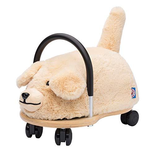 Wheelybug Kleinkind-Spielzeug zum Aufsitzen, Sicherheitszertifiziertes Entwicklungsspielzeug mit austauschbarem Plüschbezug (klein, Plüschhunde), 1–3 Jahre
