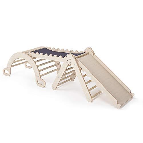 MAMOI Triangle Gym Dreieck v.2 für Kinder Modernes   Klettergerüst Indoor minimalistisches Design   Kletterdreieck für Kleinkinder aus Holz   100% ECO   Made in EU (Triangle Gym)