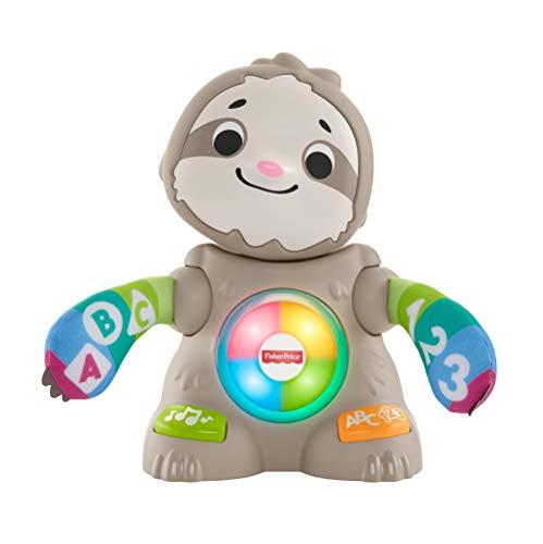 Fisher-Price BlinkiLinkis Faultier, deutschsprachig, musikalisches babyspielzeug für Babys und Kleinkinder, ab 9 Monaten