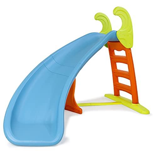 FEBER 719014 Famosa 800008359 - Bogenrutsche mit Wasseranschluss für Kinder von 3 bis 10 Jahren, blau