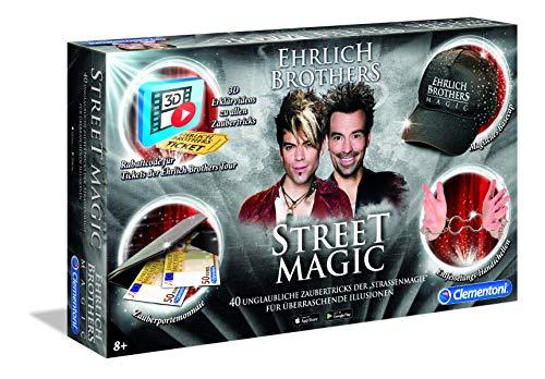 Clementoni 59049 Ehrlich Brothers Street Magic, Zauberkasten für Kinder ab 8 Jahren, magisches Equipment für 40 Zaubertricks, inkl. 3D Erklärvideos, als Weihnachtsgeschenk
